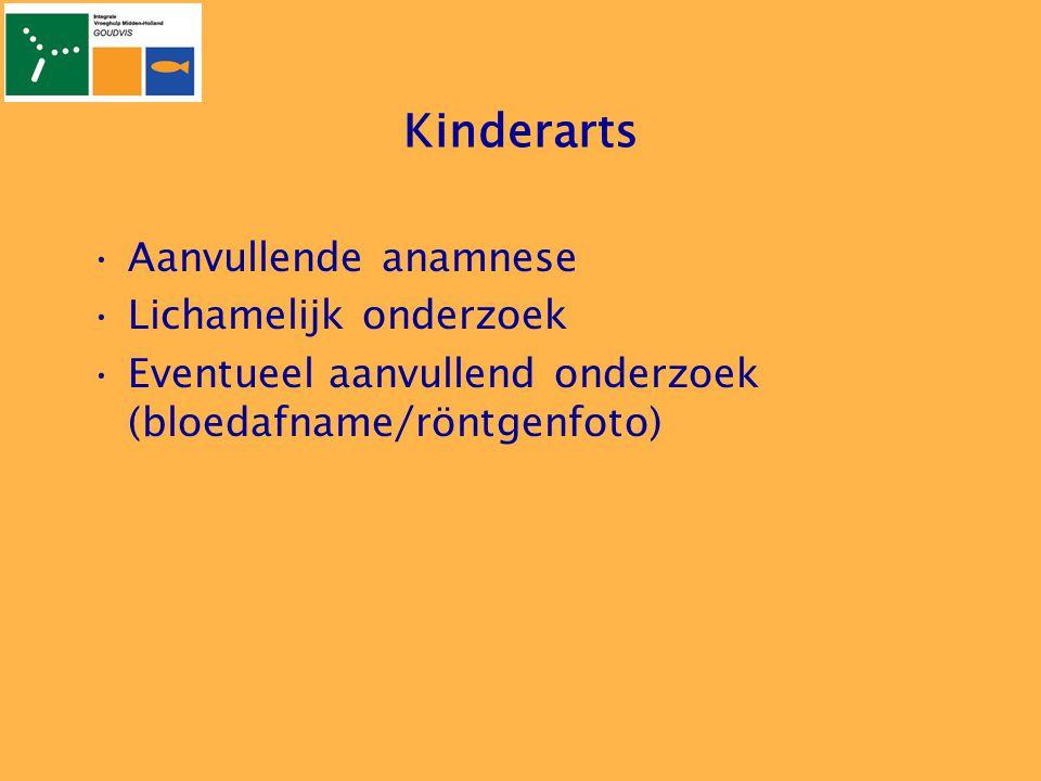 Kinderarts Aanvullende anamnese Lichamelijk onderzoek