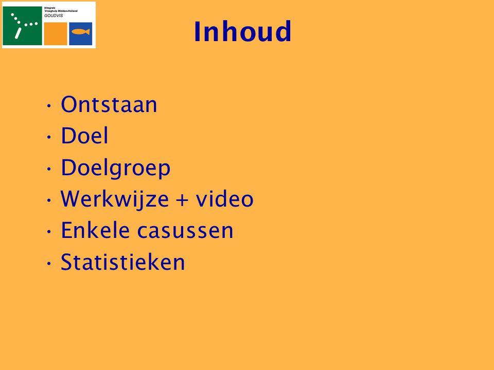 Inhoud Ontstaan Doel Doelgroep Werkwijze + video Enkele casussen