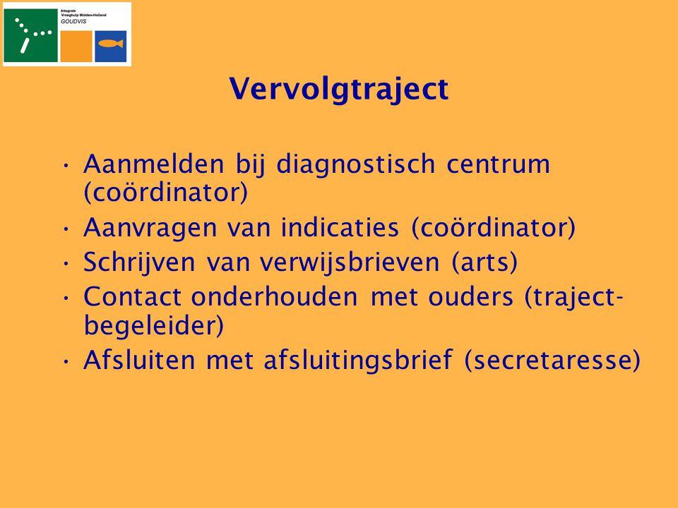 Vervolgtraject Aanmelden bij diagnostisch centrum (coördinator)
