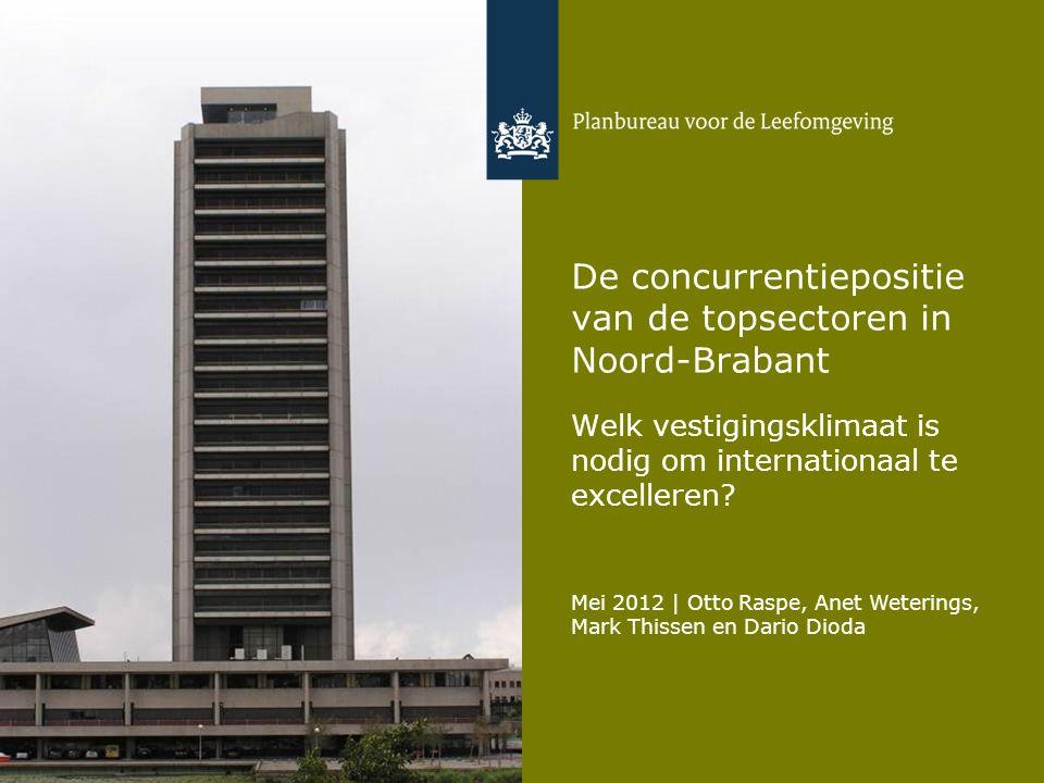 De concurrentiepositie van de topsectoren in Noord-Brabant
