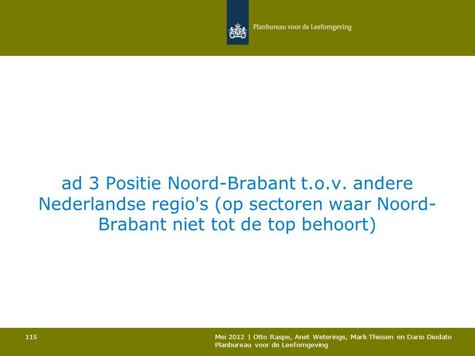 ad 3 Positie Noord-Brabant t. o. v
