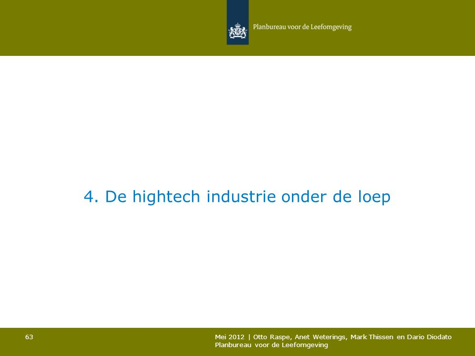 4. De hightech industrie onder de loep