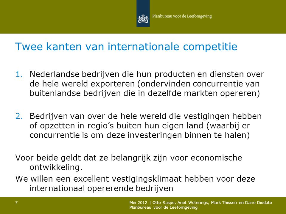 Twee kanten van internationale competitie