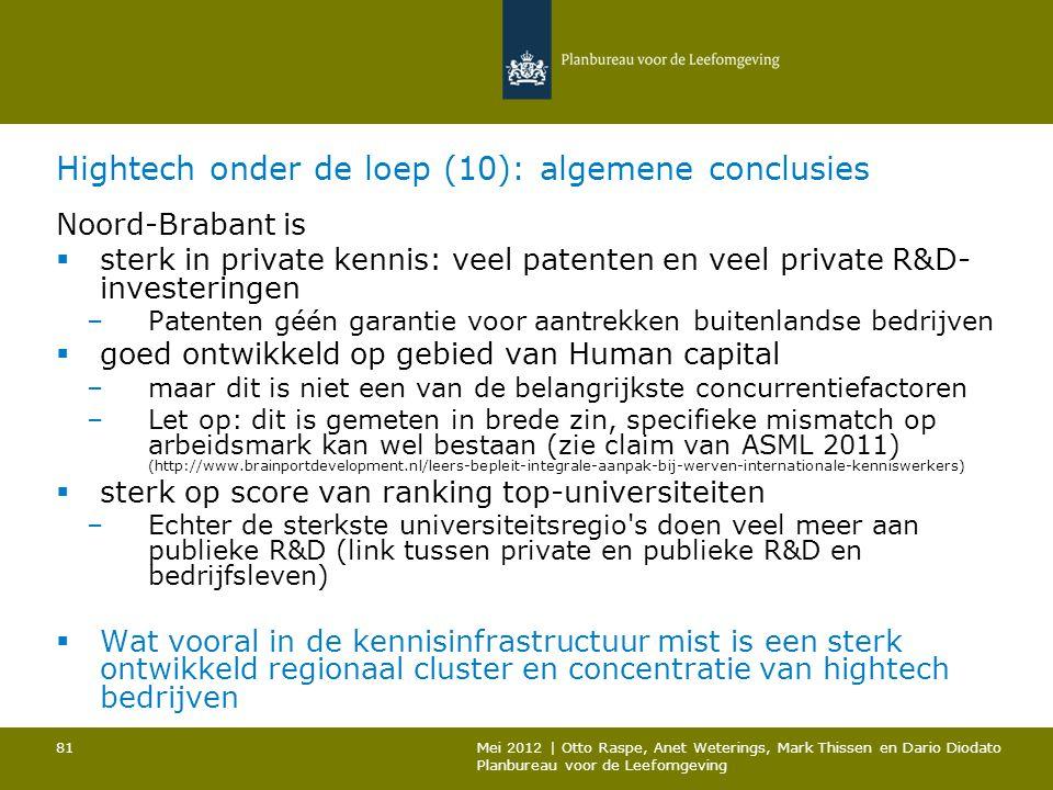 Hightech onder de loep (10): algemene conclusies