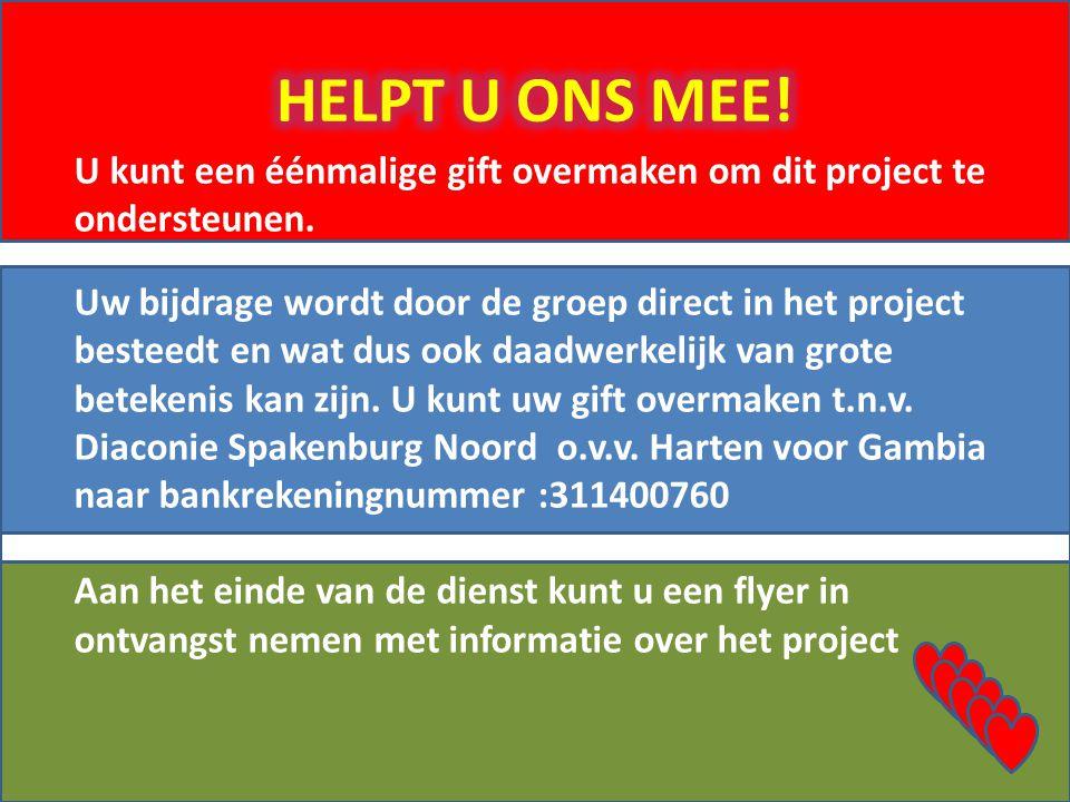 HELPT U ONS MEE!