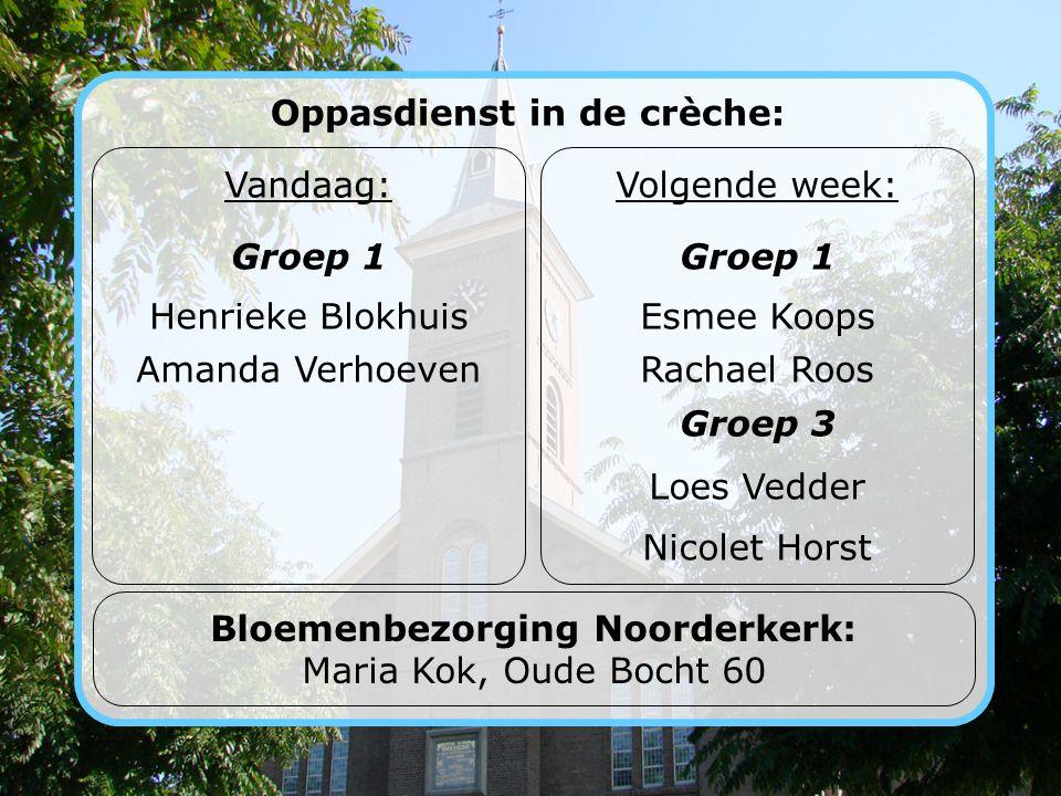Oppasdienst in de crèche: Bloemenbezorging Noorderkerk: