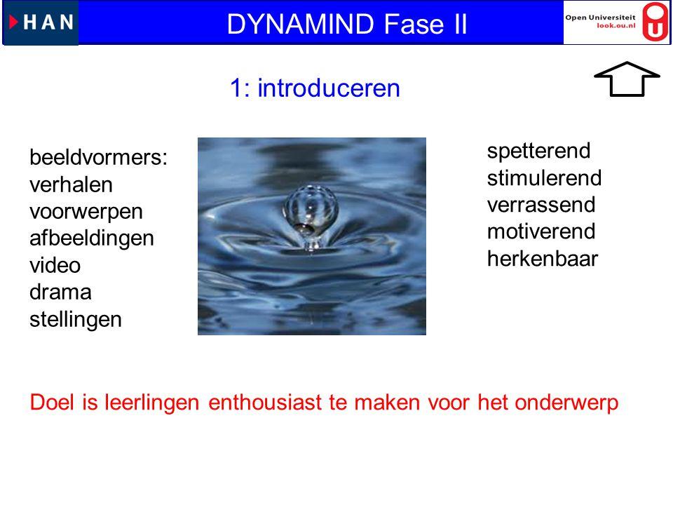 DYNAMIND Fase II 1: introduceren spetterend beeldvormers: stimulerend