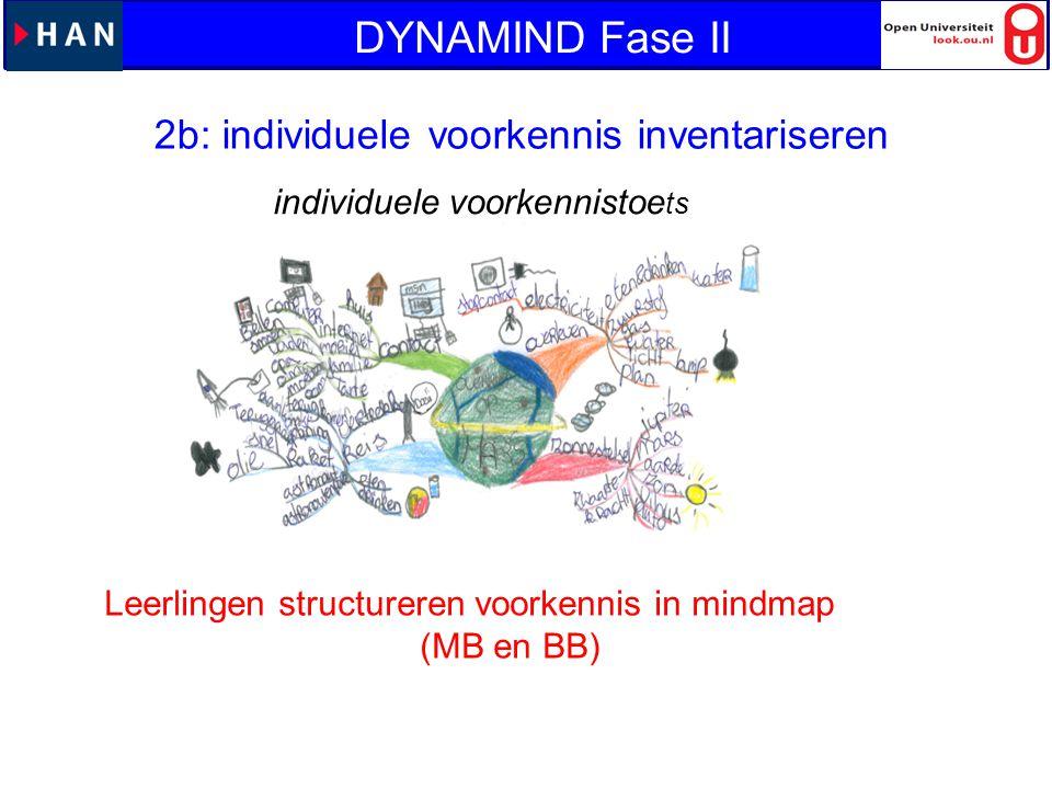 DYNAMIND Fase II 2b: individuele voorkennis inventariseren