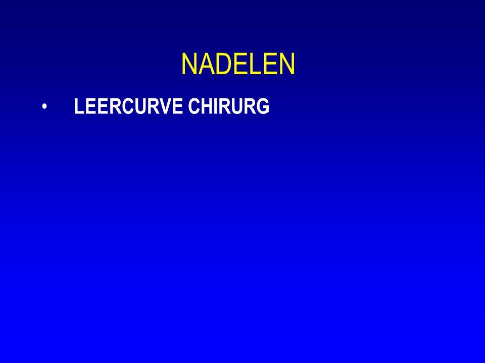 NADELEN LEERCURVE CHIRURG