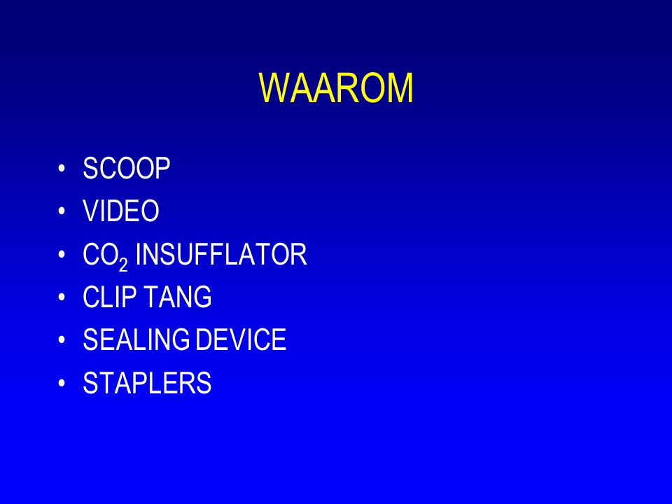 WAAROM SCOOP VIDEO CO2 INSUFFLATOR CLIP TANG SEALING DEVICE STAPLERS