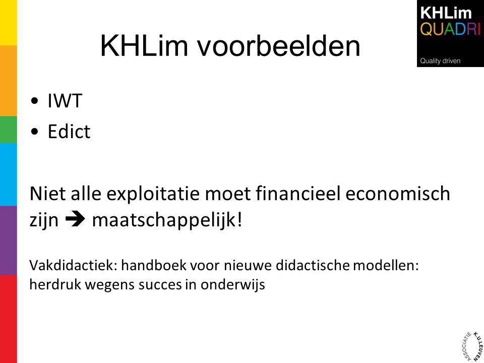KHLim voorbeelden IWT Edict