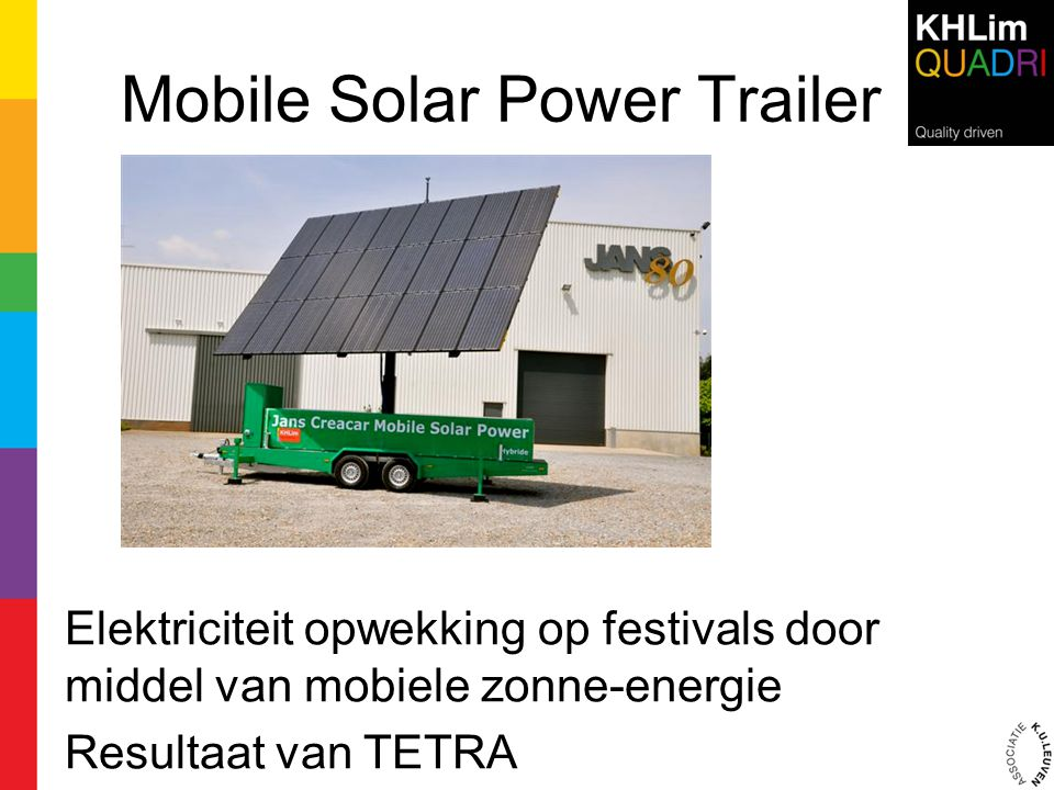 Mobile Solar Power Trailer