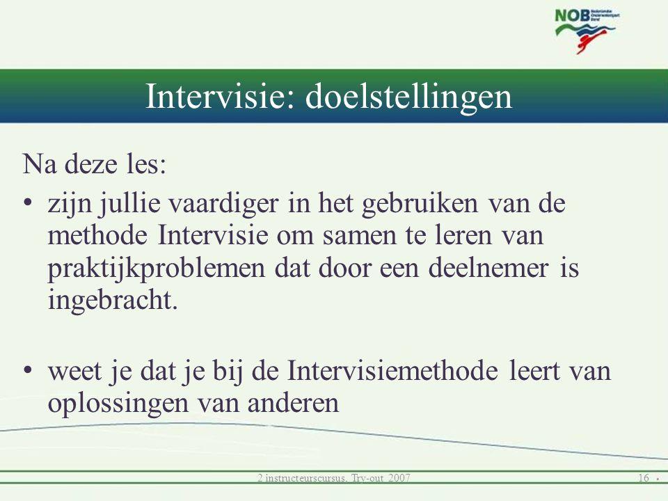 Intervisie: doelstellingen