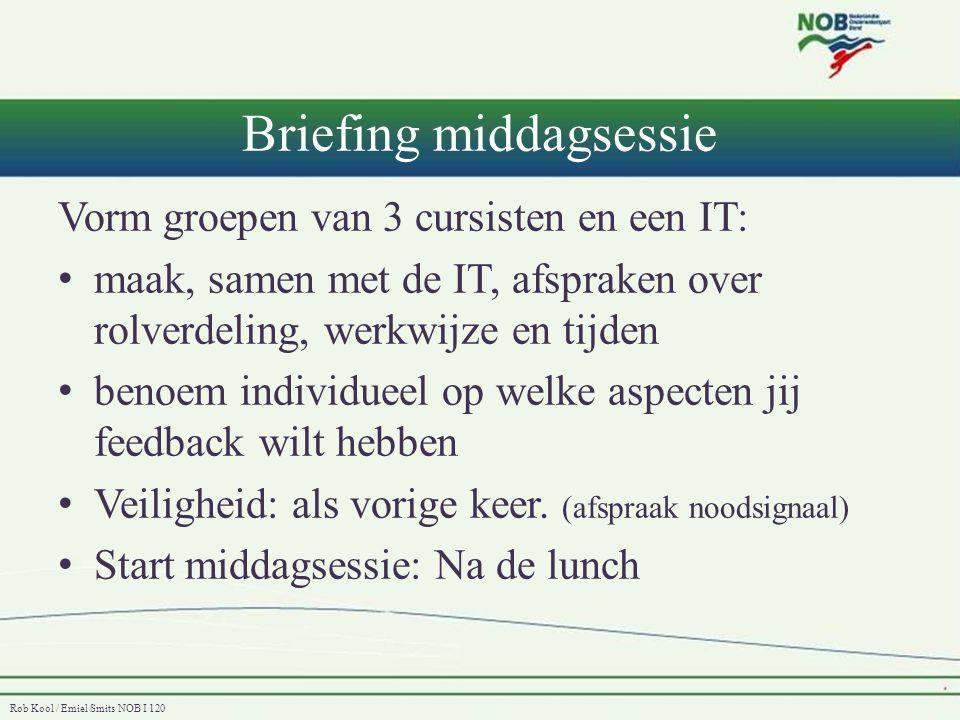 Briefing middagsessie