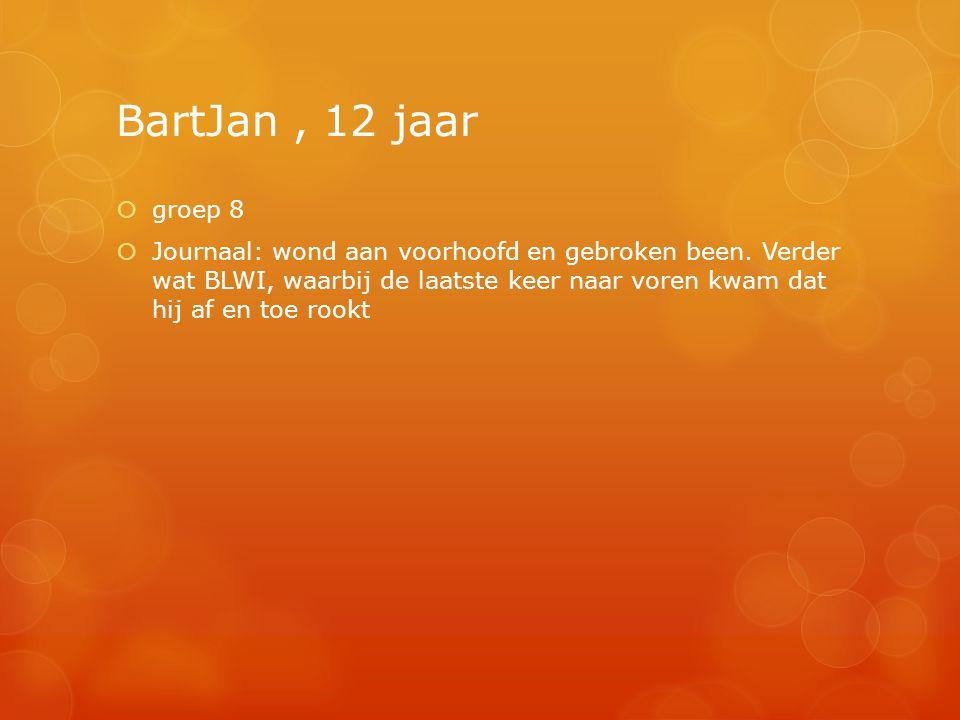 BartJan , 12 jaar groep 8.