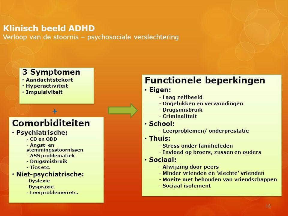 + Functionele beperkingen Comorbiditeiten