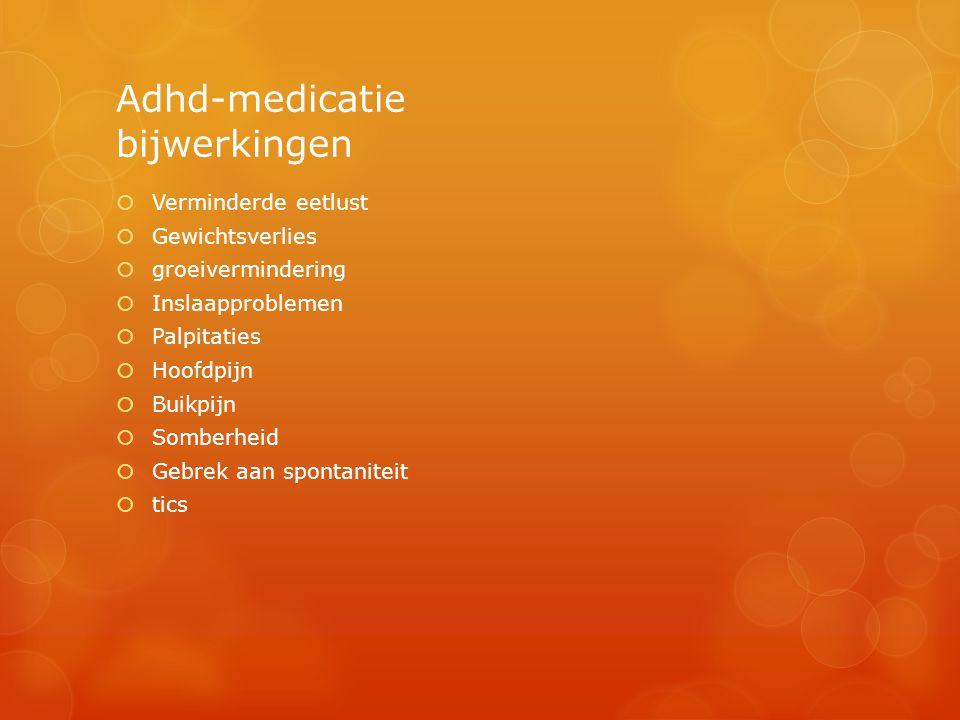 Adhd-medicatie bijwerkingen