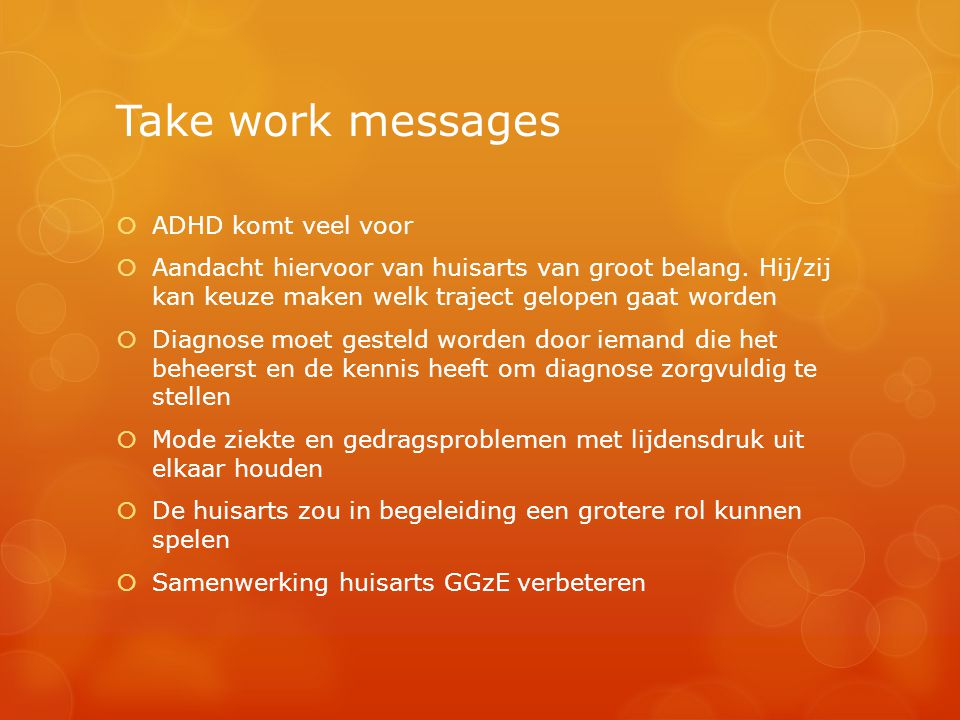 Take work messages ADHD komt veel voor
