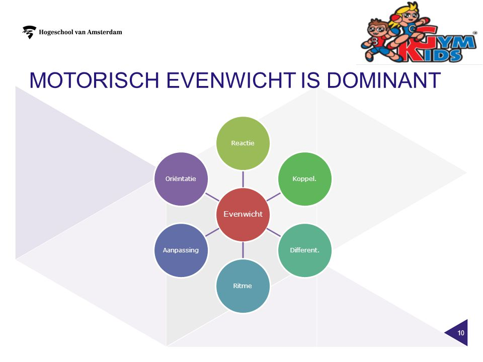 motorisch evenwicht is dominant