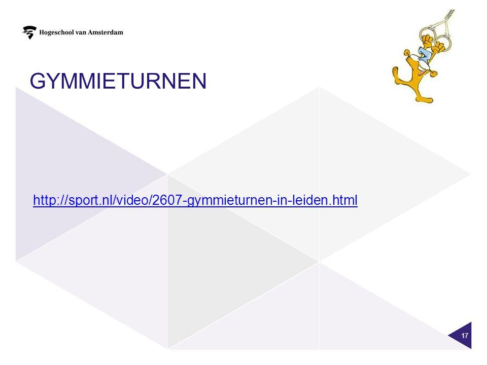 gymmieturnen http://sport.nl/video/2607-gymmieturnen-in-leiden.html