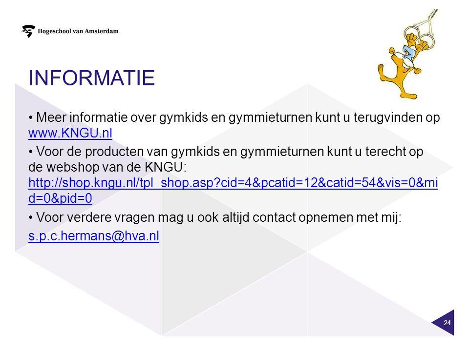 informatie Meer informatie over gymkids en gymmieturnen kunt u terugvinden op www.KNGU.nl.