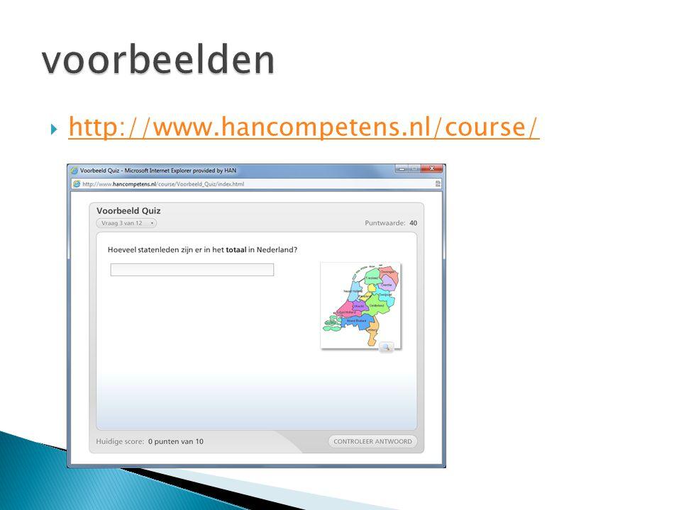 voorbeelden http://www.hancompetens.nl/course/