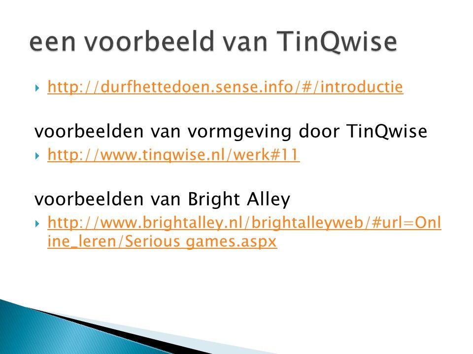 een voorbeeld van TinQwise