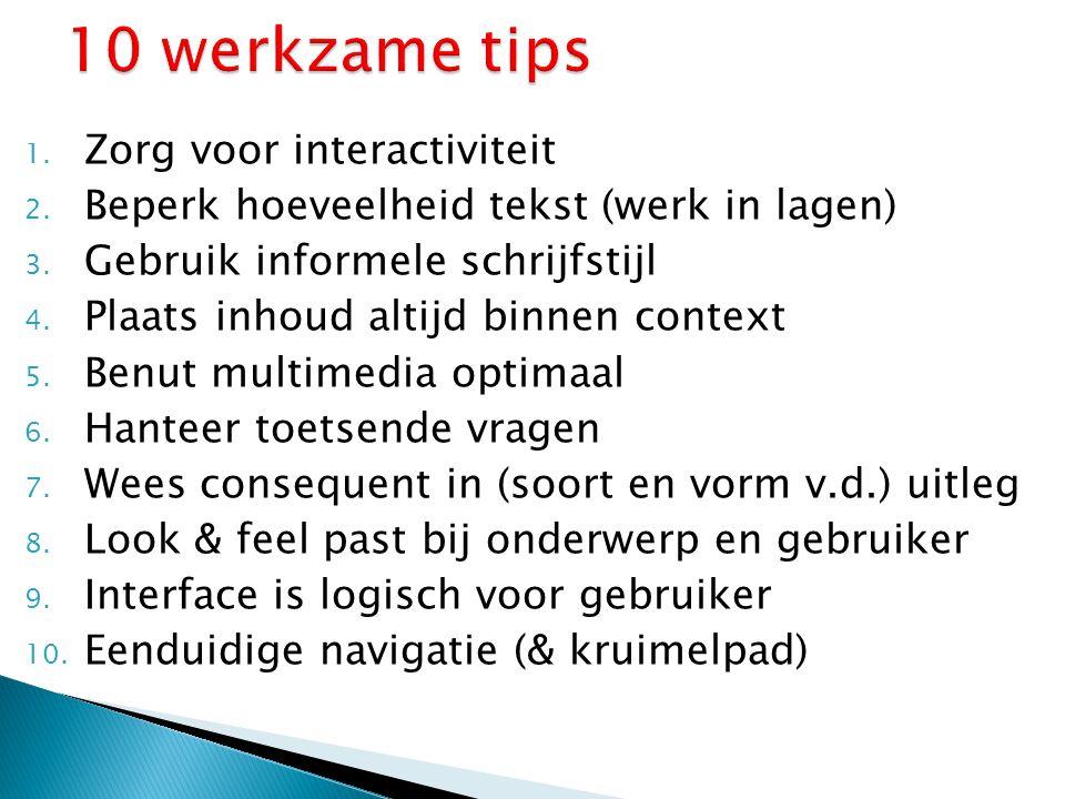 10 werkzame tips Zorg voor interactiviteit