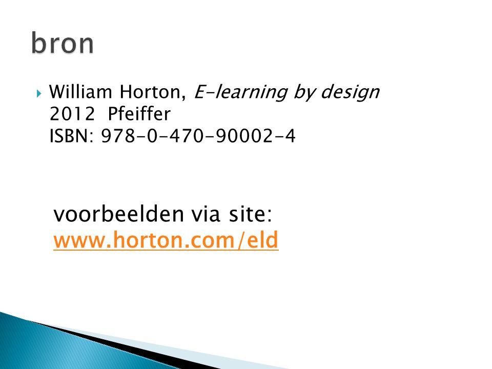 bron voorbeelden via site: www.horton.com/eld