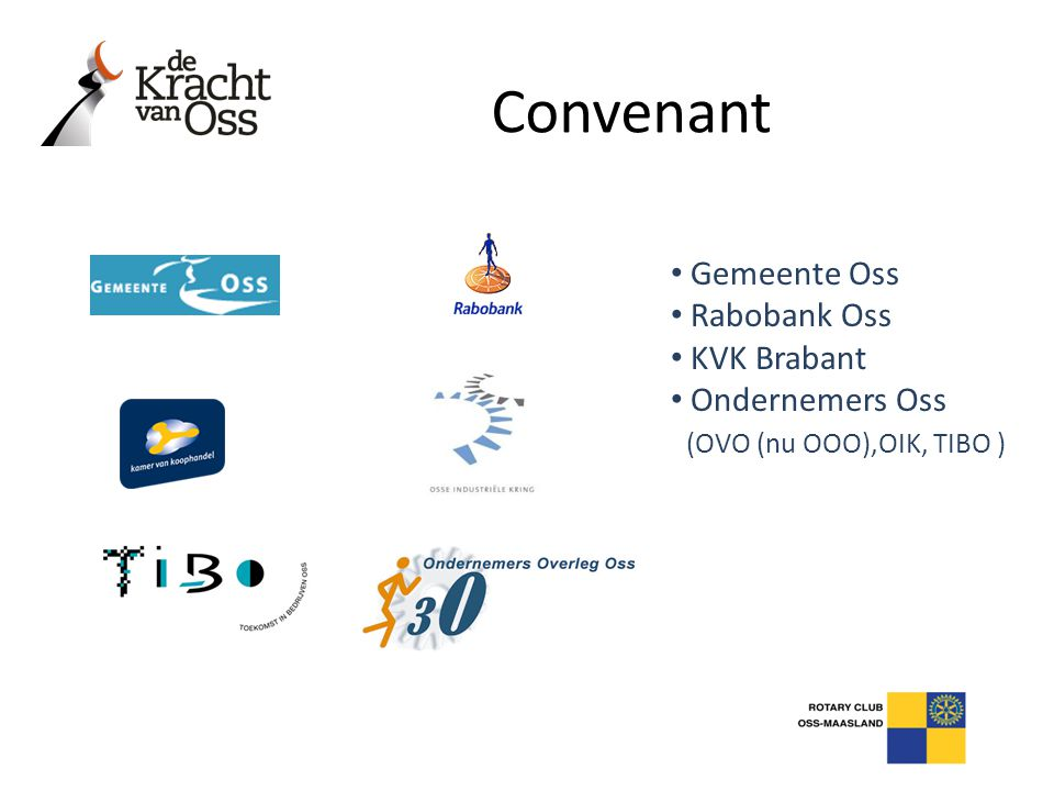 Convenant Gemeente Oss Rabobank Oss KVK Brabant Ondernemers Oss