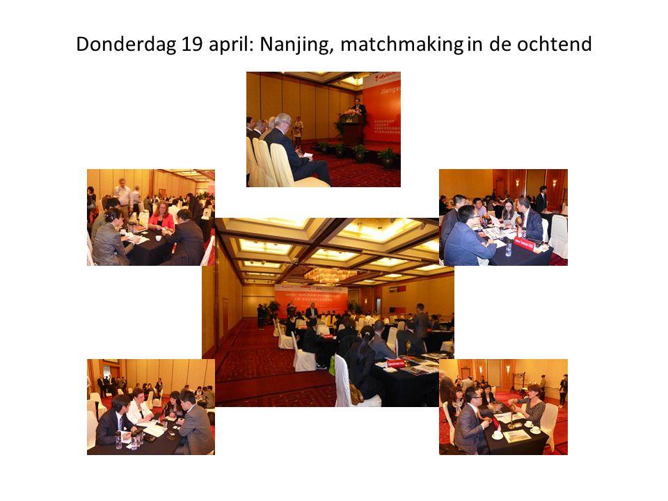 Donderdag 19 april: Nanjing, matchmaking in de ochtend