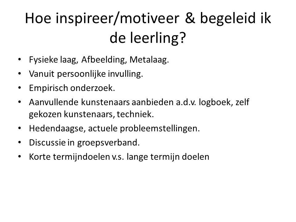 Hoe inspireer/motiveer & begeleid ik de leerling