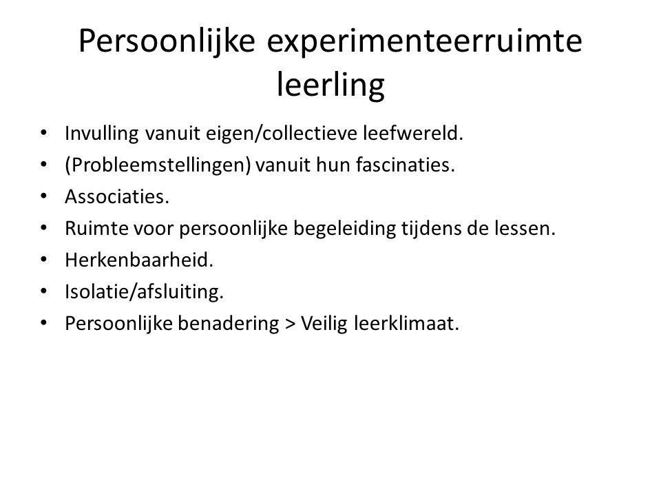 Persoonlijke experimenteerruimte leerling
