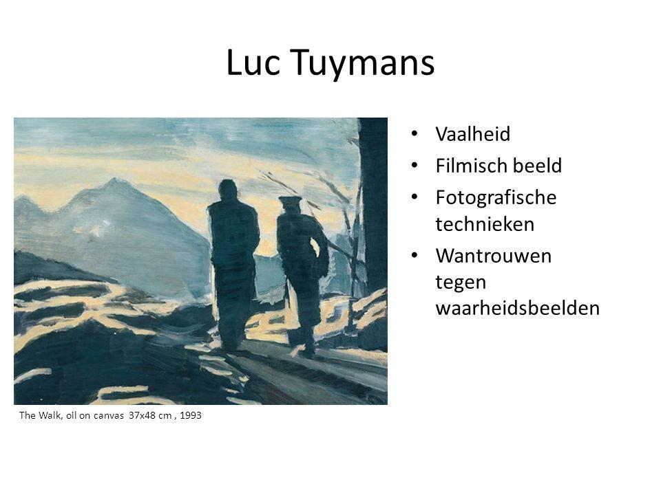 Luc Tuymans Vaalheid Filmisch beeld Fotografische technieken