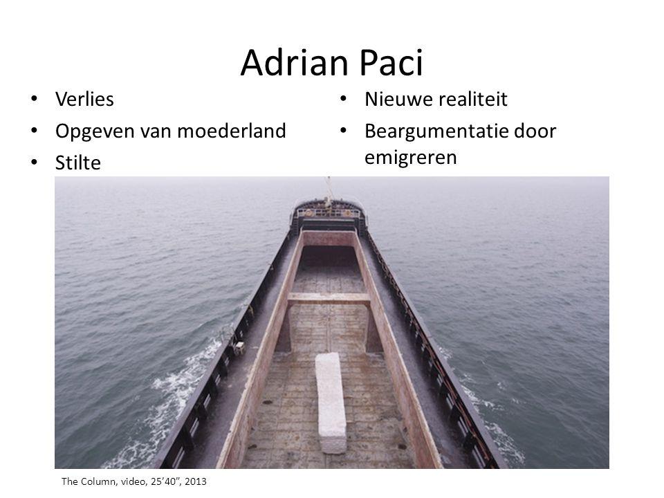 Adrian Paci Verlies Nieuwe realiteit Opgeven van moederland