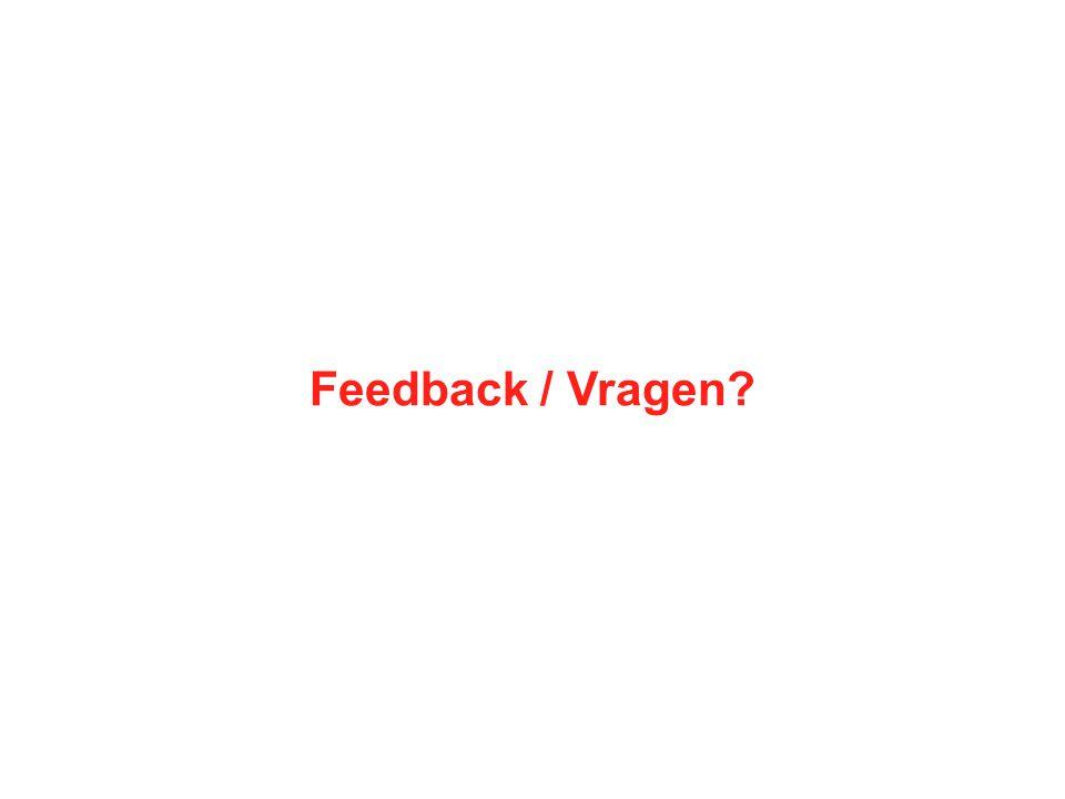 Feedback / Vragen