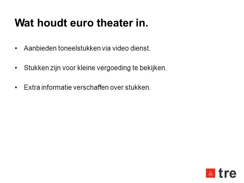 Wat houdt euro theater in.