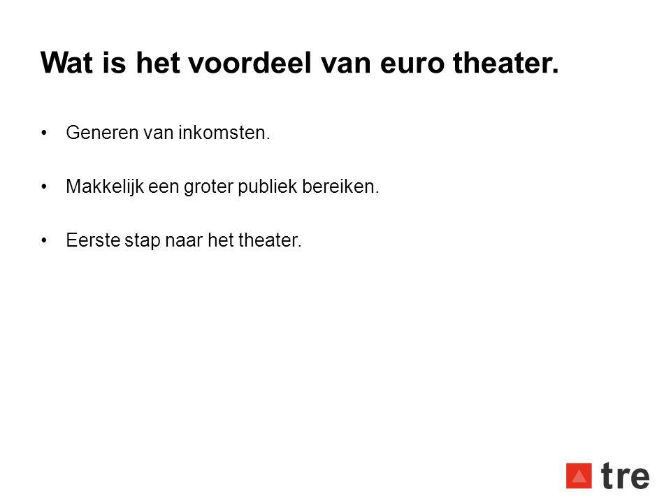 Wat is het voordeel van euro theater.