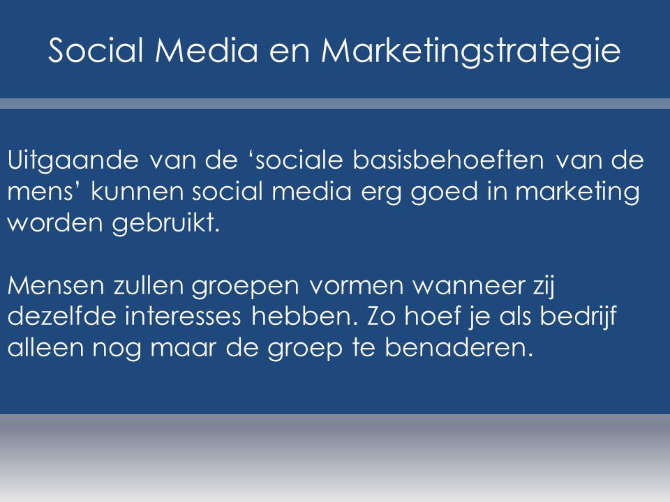 Social Media en Marketingstrategie