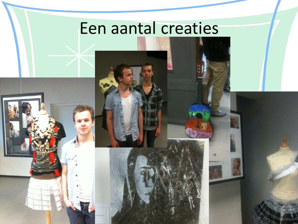 Een aantal creaties