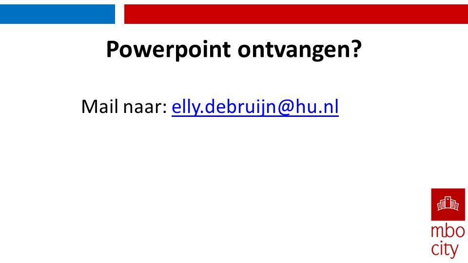 Mail naar: elly.debruijn@hu.nl