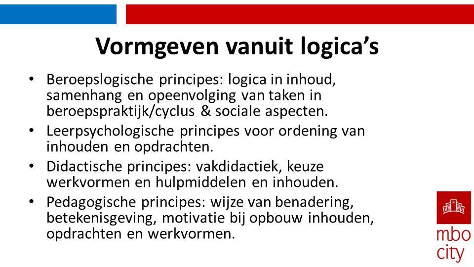 Vormgeven vanuit logica's