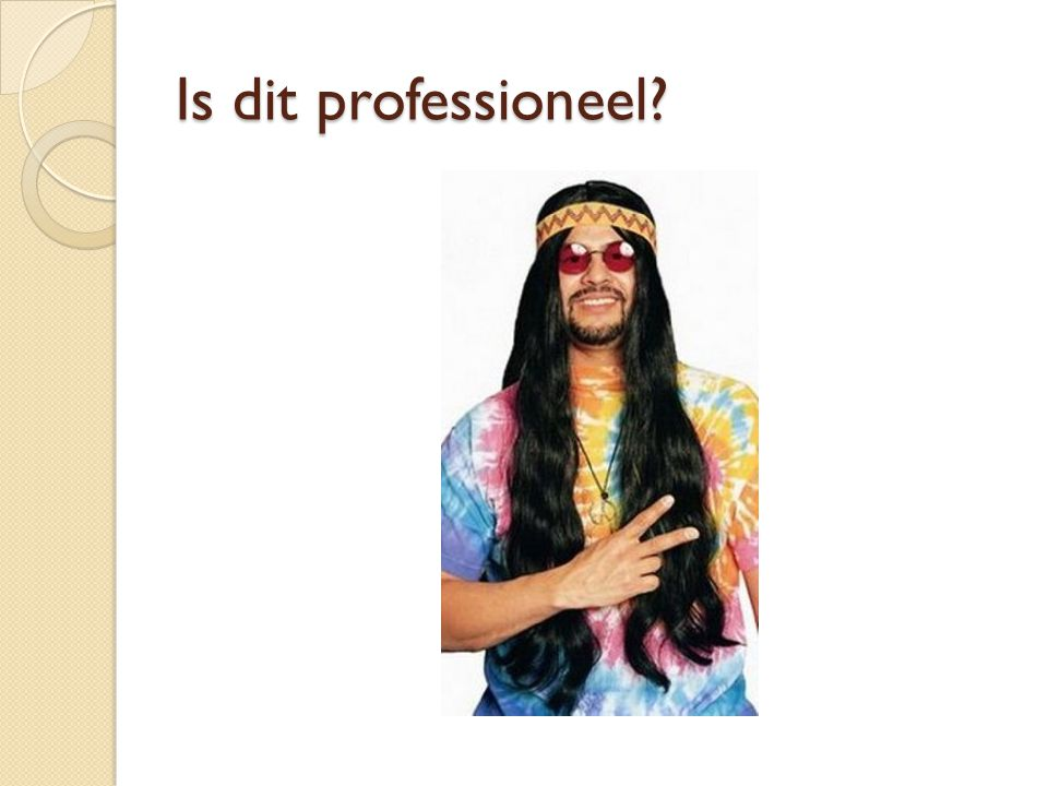 Is dit professioneel