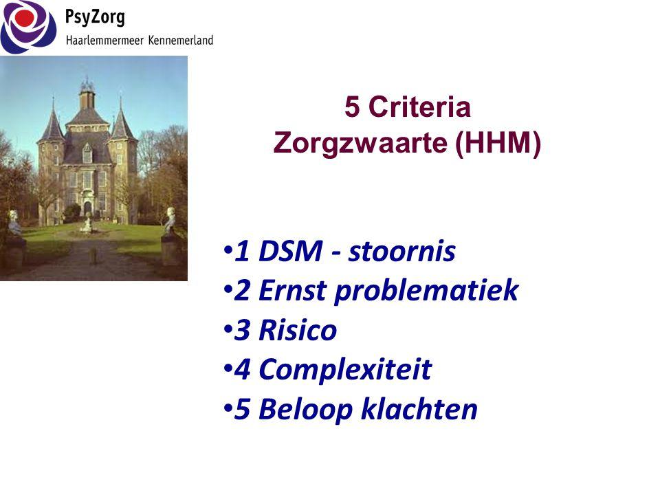 5 Criteria Zorgzwaarte (HHM)