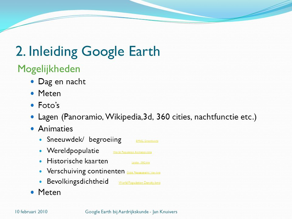 2. Inleiding Google Earth