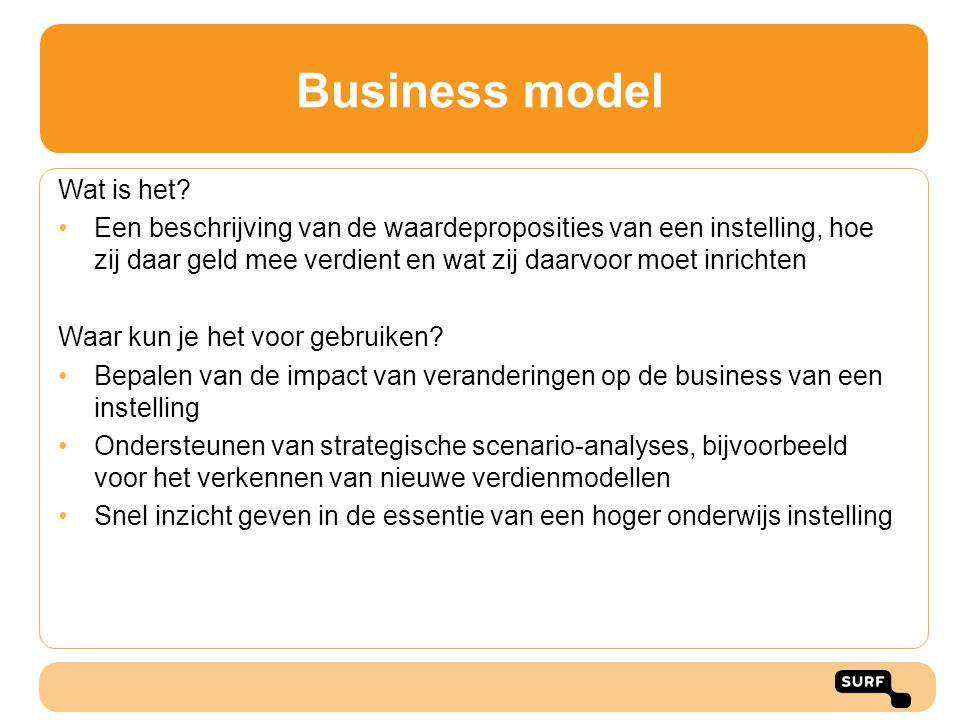 Business model Wat is het