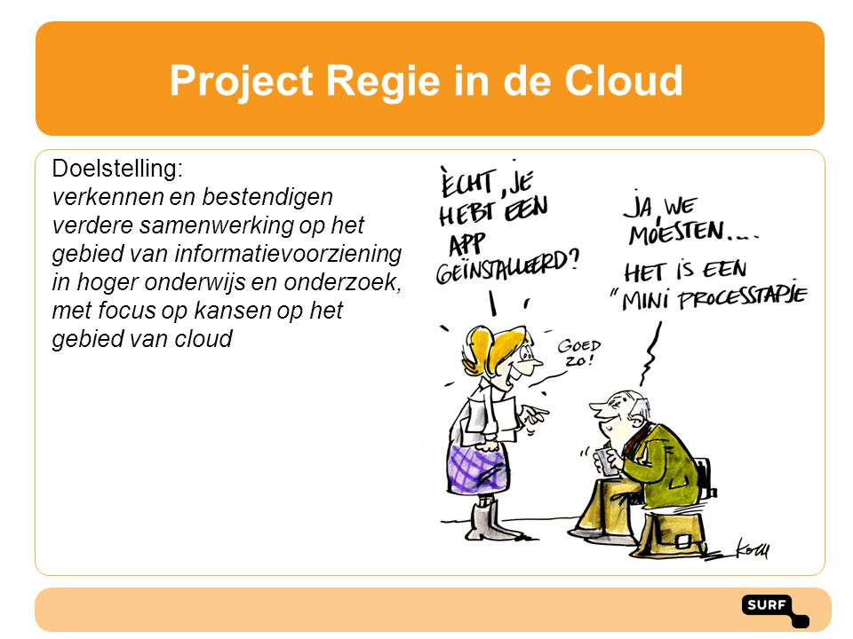 Project Regie in de Cloud