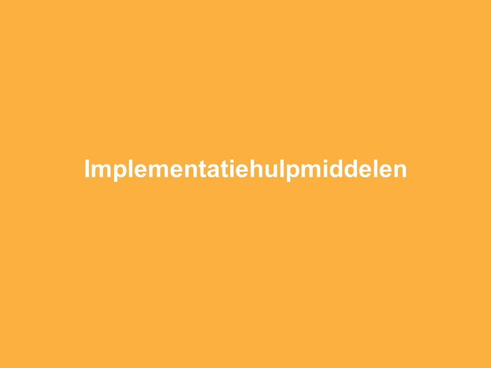 Implementatiehulpmiddelen