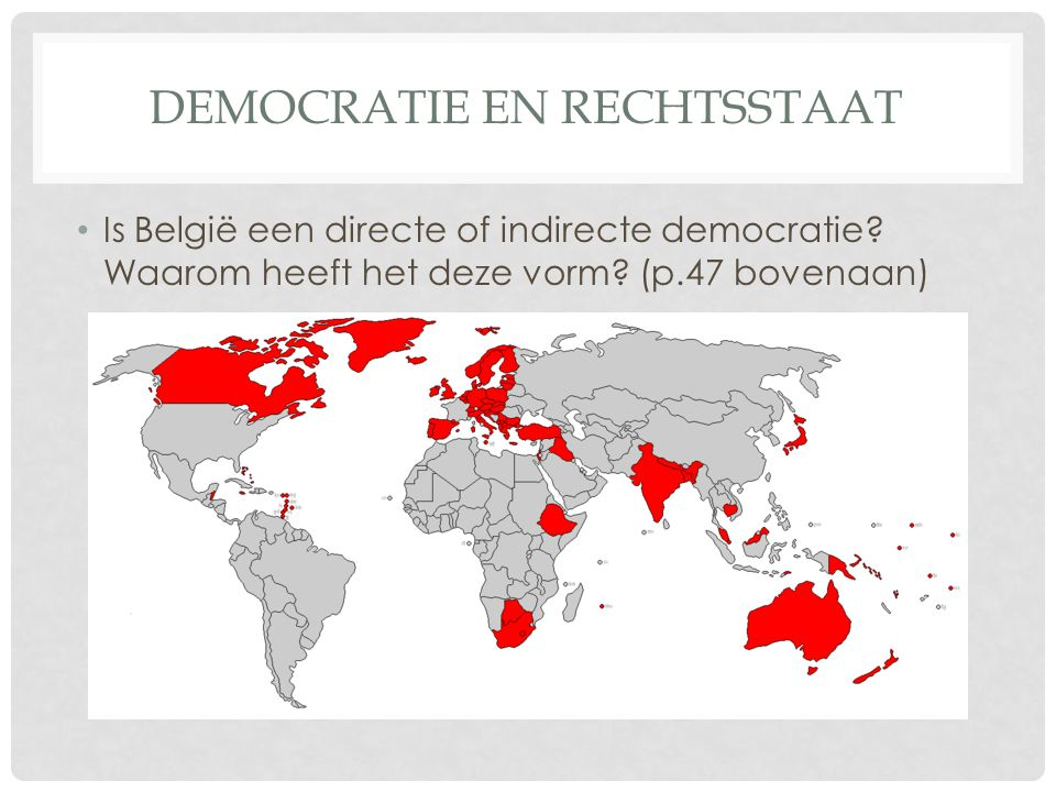 Democratie en rechtsstaat