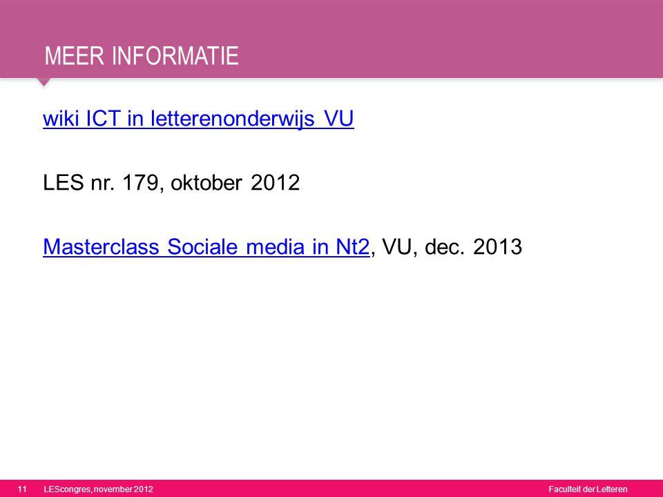 Meer informatie wiki ICT in letterenonderwijs VU
